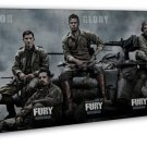 Fury Movie 2014 Wall Decor 20x16 Framed Canvas Print
