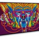Psychedelic Trippy Art Wall Decor 20x16 Framed Canvas Print