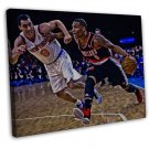 Damian Lillard Basketball Star Wall Decor 20x16 FRAMED CANVAS Print