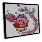 Kirby Star Game Wall Decor 20x16 Framed Canvas Print