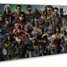 Injustice Gods Among Us Game Wall Decor 20x16 Framed Canvas Print