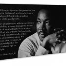 Martin Luther King Jr Wall Decor 20x16 Framed Canvas Print