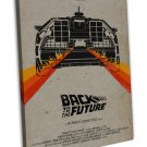 Back To The Future 1 2 3 Movie Wall Decor 20x16 FRAMED CANVAS Print