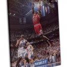 Michael Jordan Basketball Star Wall Decor 20x16 FRAMED CANVAS Print