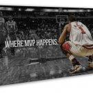 Derrick Rose Basketball Star Wall Decor 20x16 FRAMED CANVAS Print