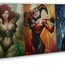 Harley Quinn Batman Arkham City Wall Decor 20x16 FRAMED CANVAS Print