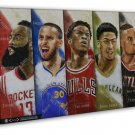 Stephen Curry Golden State Warriors Basketball 20x16 FRAMED CANVAS Print