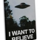 I Want To Believe The X Files Tv Series 20x16 Framed Canvas Print