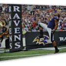 Ray Lewis No 52 Nfl Football Sports 20x16 Framed Canvas Print