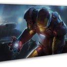 Superhero Iron Man Movie Art Tony Stark 20x16 Framed Canvas Print