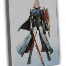 Final Fantasy Xv Lightning Game Wall 20x16 Framed Canvas Print