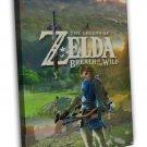 Legend Of Zelda Breath Of The Wild Hot Game 20x16 Framed Canvas Print
