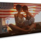 Life Is Strange New Hot Game Two Girl Kiss 20x16 Framed Canvas Print