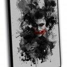 Joker Batman The Dark Knight Movie Red Lips 20x16 FRAMED CANVAS Print