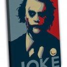 Joker Batman The Dark Dark Knight Vintage Art 20x16 FRAMED CANVAS Print