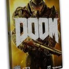 Doom Hot Shooting Game Art Wall Decor 20x16 Framed Canvas Print