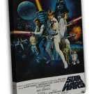 Star Wars 7 Classic Movie 20x16 Framed Canvas Print