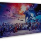 Star Wars Darth Vader Movie Art 20x16 Framed Canvas Print