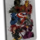 Avengers Age Of Ultron Movie Art Captain America Hulk 20x16 FRAMED CANVAS Print