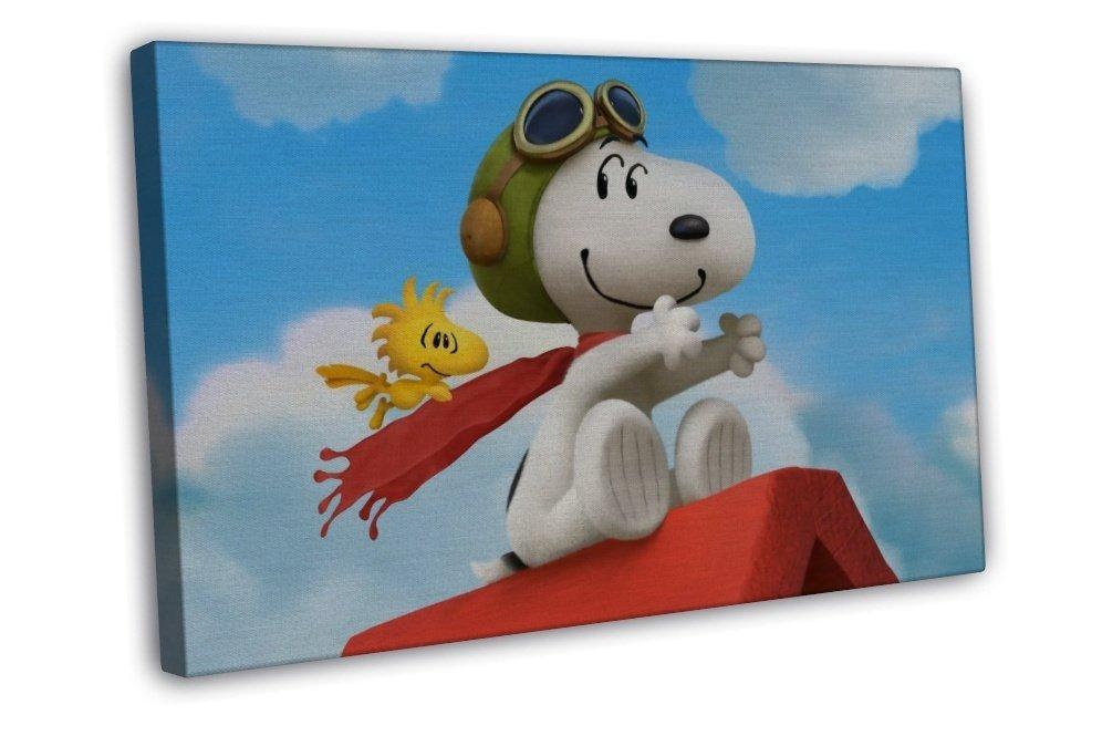 Snoopy The Peanuts Cartoon Movie 20x16 FRAMED CANVAS Print