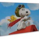 Snoopy The Peanuts Cartoon Movie 20x16 FRAMED CANVAS Print
