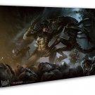 Alien Vs Predator 3 Movie Art 20x16 Framed Canvas Print