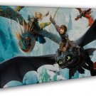 How To Train Your Dragon 2 Movie Fabric 20x16 Framed Canvas Print