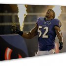 Ray Lewis America Nfl Football Sports Art 20x16 Framed Canvas Print