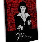 Pulp Fiction Classic Movie Art Fabric Uma Thurma 20x16 FRAMED CANVAS Print