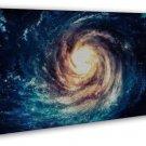 Black Hole Outer Space Galaxy Stars Nebula Art 20x16 FRAMED CANVAS Print