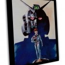 Mobile Suit Gundam Classic Japanese Anime 20x16 Framed Canvas Print