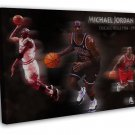 Michael Jordan Basketball MVP Fabric Home Wall Decor 20x16 FRAMED CANVAS Print