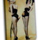 Marilyn Monroe Sexy Film Star Fabric 20x16 Framed Canvas Print