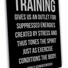 Arnold Schwarzenegger Fitness Motivational Quote 20x16 FRAMED CANVAS Print