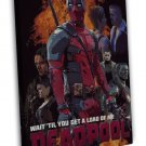 Deadpool Marvel Superheroes Comic 20x16 FRAMED CANVAS Print