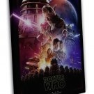 Doctor Who 9 Tv Series Art Fabric Star Wars 20x16 Framed Canvas Print