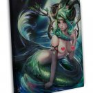 Sexy Capricorn Anime Girl 20x16 Framed Canvas Print