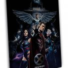 X Men Apocalypse Movie Fabric 20x16 Framed Canvas Print