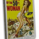 Attack Of The 50 Ft Woman Classic Film Movie 20x16 FRAMED CANVAS Print