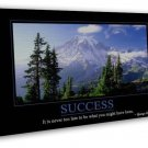 Success Motivational Quote 20x16 Framed Canvas Print