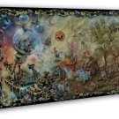 Psychedelic Fairies Gnomes Magic Mushrooms 20x16 FRAMED CANVAS Print