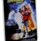 Back To The Future 2 Classic Movie Art Fabric 20x16 FRAMED CANVAS Print