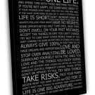 Love Your Life Inspirational Reading Quotes 20x16 FRAMED CANVAS Print
