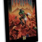 The Ultimate Doom Vintage Game Art 20x16 Framed Canvas Print