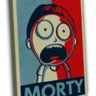 Rick And Morty Cartoon Anime Vintage Style 20x16 FRAMED CANVAS Print