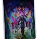 The Legend Of Zelda Majoras Mask Game Fabric 20x16 FRAMED CANVAS Print
