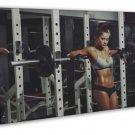 Hot Girl Workout Motivation 20x16 Framed Canvas Print