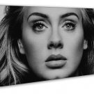 Adele 2016 Eyes Black White 20x16 Framed Canvas Print