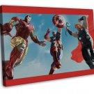 Iron Man Man Of Steel Thor Captain America 20x16 FRAMED CANVAS Print