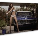 Retro Muscle Car The Mercury Cougar Hot Girl Photo 20x16 FRAMED CANVAS Print